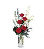 Aritistic-Flowers-Lake-Oswego-Portland- Vancouver-Deliver-Red-Rose-White Orchid