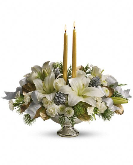 Silver and gold centerpiece artistic flowers and home decor silver and gold centerpiece mightylinksfo